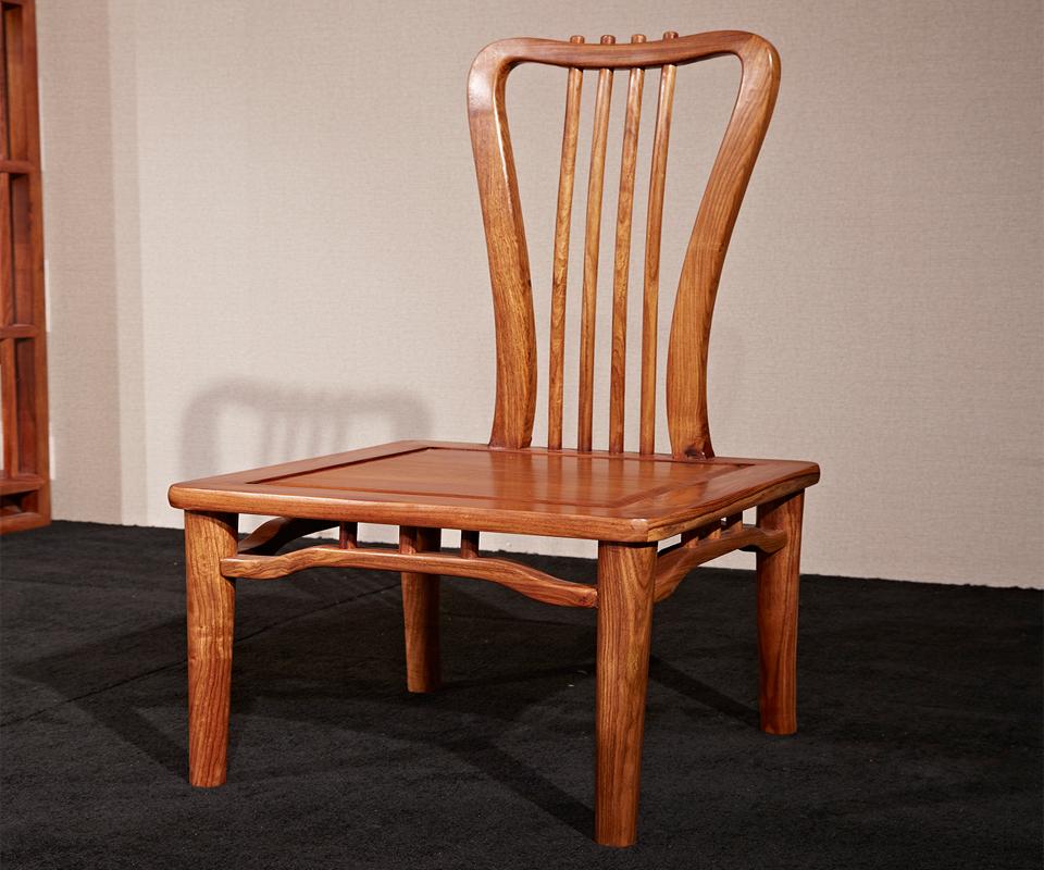 刺猬紫檀新中式红木餐桌(一桌六椅)