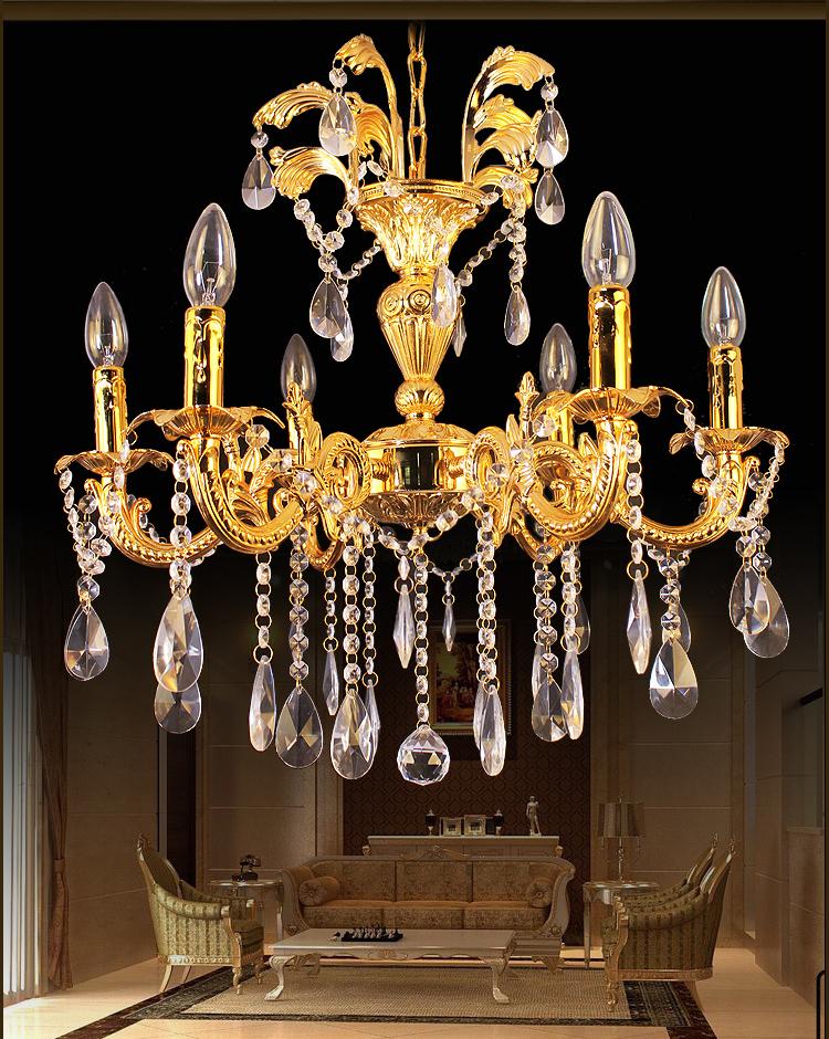 欧式水晶吊灯 锌合金蜡烛灯